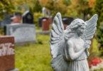 temető, angyal kőszobor