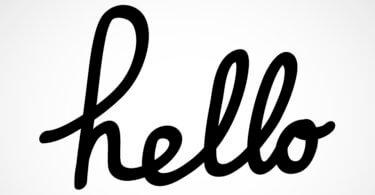 hello felirat